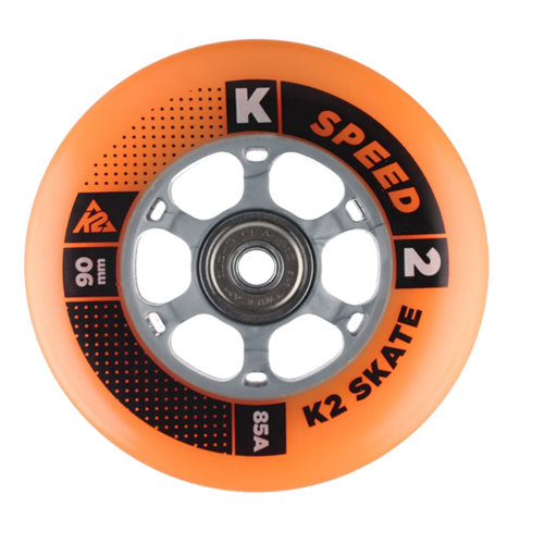 K2 Inliner Skates Rollen Set 8x 90mm 85A + Kugellager + Spacer